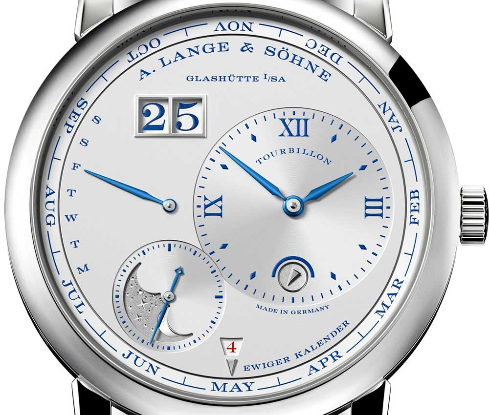 a lange sohne richard lange secondes sautantes dial closeup
