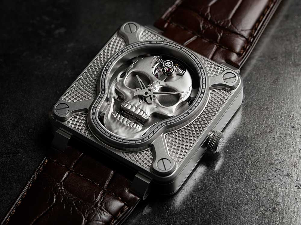 bell and ross br 01 laughing skull open mouth