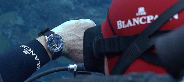 blancpain fifty fathoms ocean commitment 3 diver wirst
