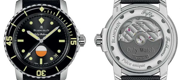 blancpain fifty-fathoms only-watch 2017 closeup