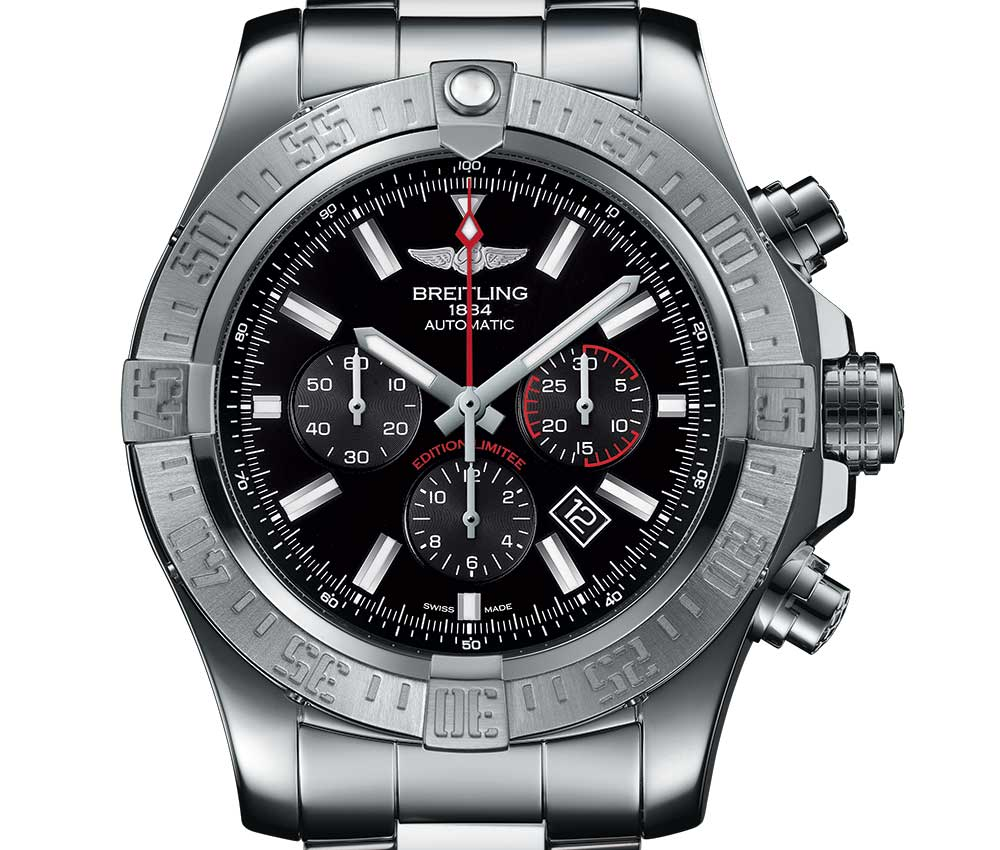 breitling super avenger boutique edition closeup