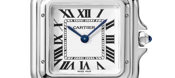 cartier panthere acier closeup
