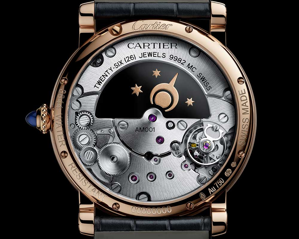 cartier rotonde mysterious day night caseback