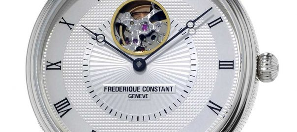 frederique constant classics automatic heart beat closeup