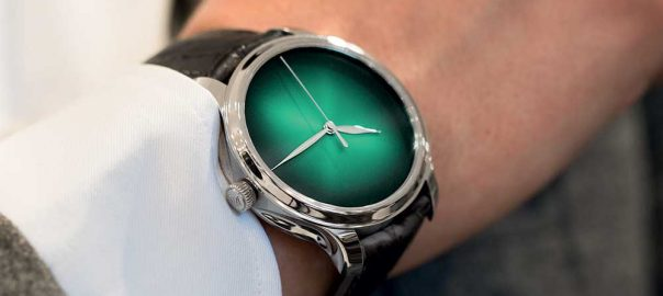 h moser cie endeavour concept cosmic green