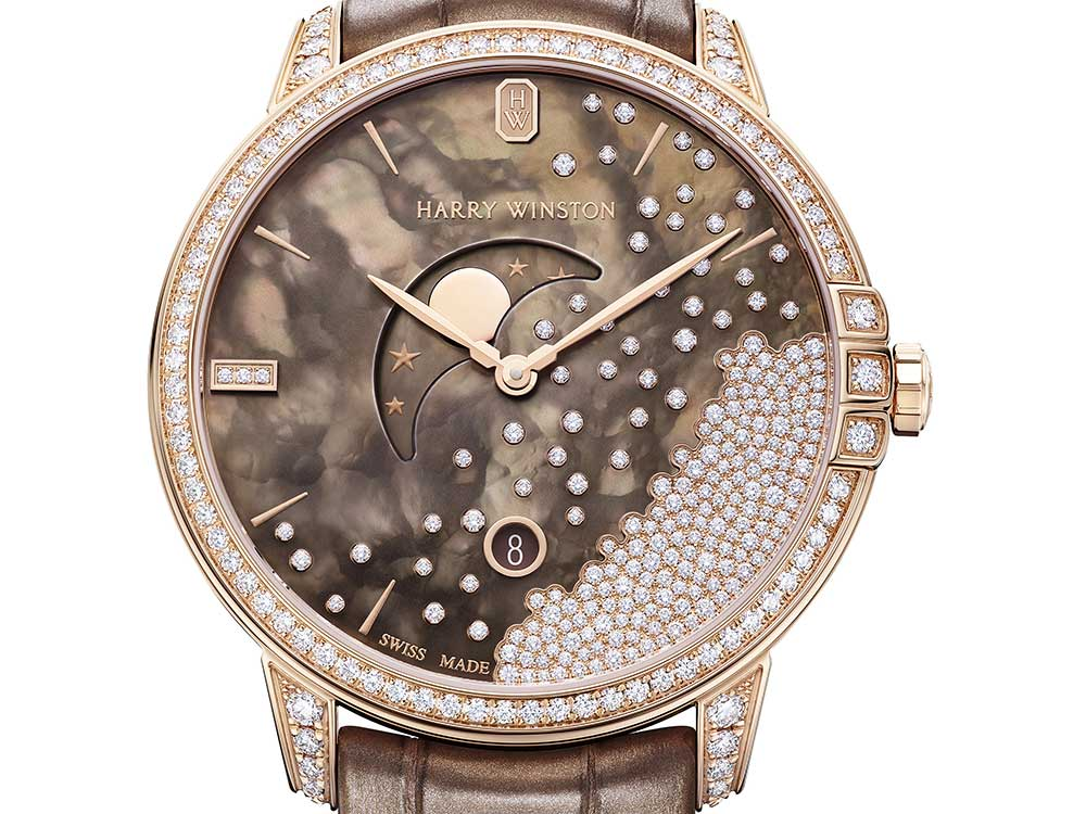 harry winston midnight chocolate diamond drops closeup