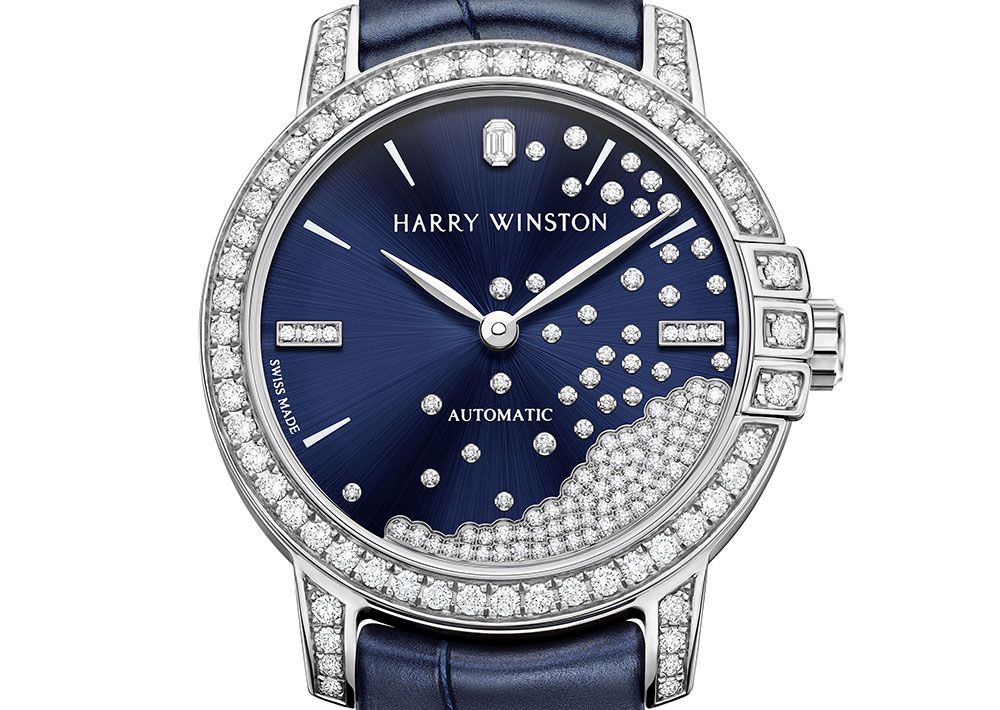harry winston midnight diamond drops closeup