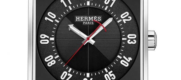 hermes carre h black closeup