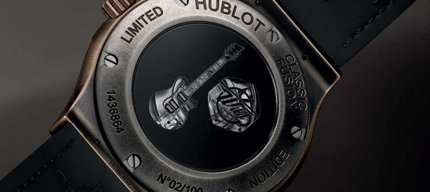 hublo classic fusion wild customs guitar caseback