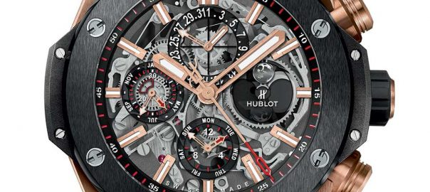 hublot big bang perpetual calandar closeup