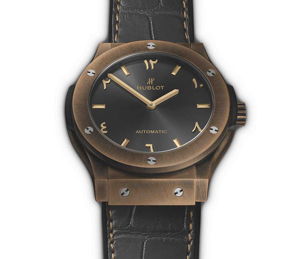 hublot classic fusion special-edition bronze anticlockwise white backgroud