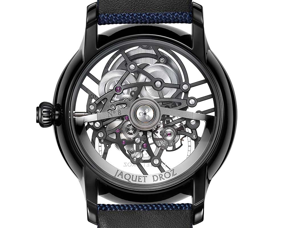 jaquet droz grande seconde skeleton one ceramic caseback