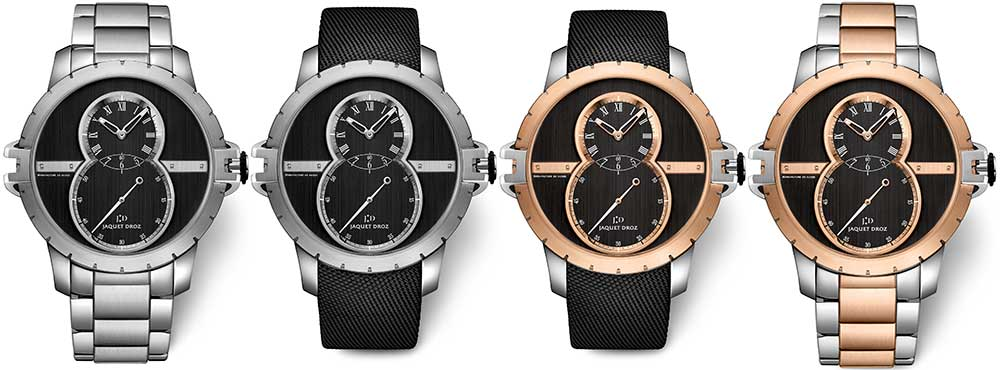 jaquet droz grande seconde sw steel gold collection