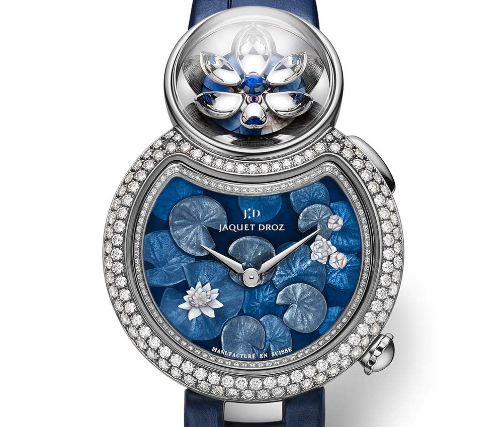 jaquet droz lady 8 flower 2018 blu dial