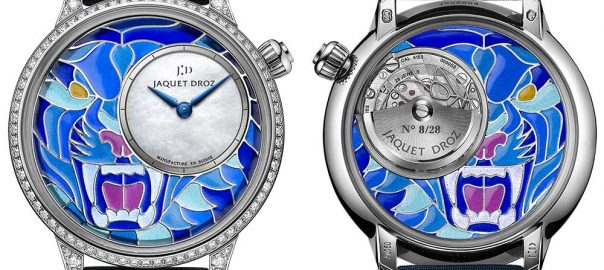 jaquet droz petite heure minute smalta clara closeup both views