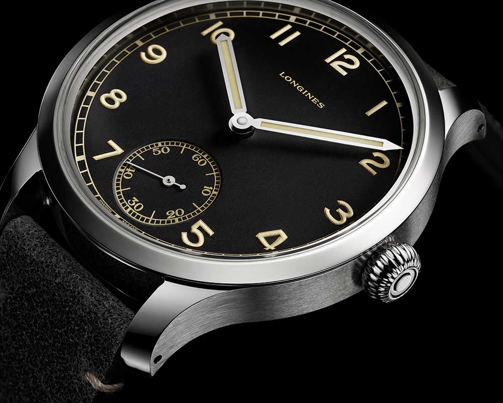 longines heritage military 1938 closeup