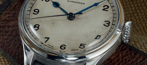 longines heritage military closeup
