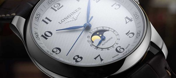 longines master collection White dial closeup