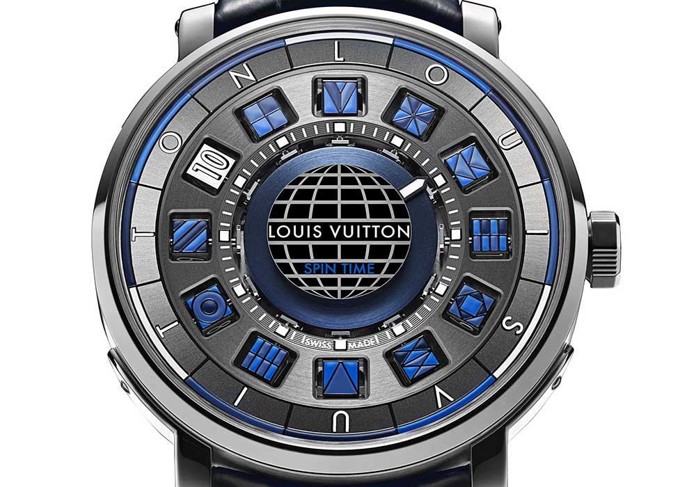 louis vuitton escale spin time blue closeup