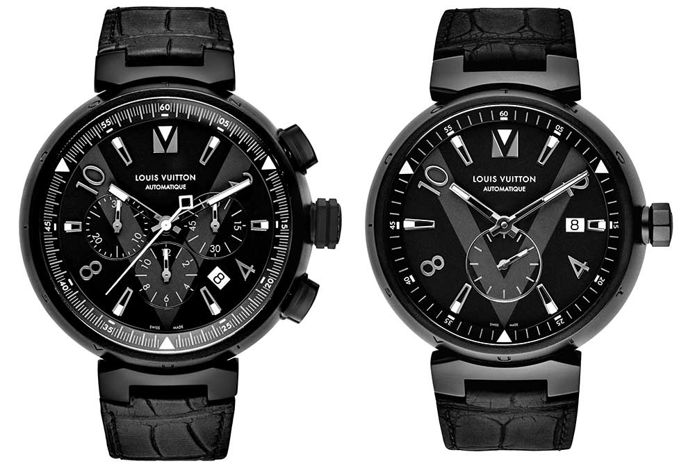 louis vuitton tambour all black collection