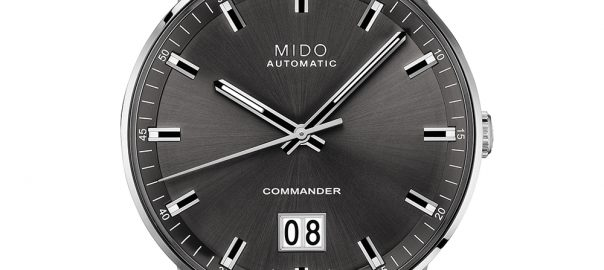 mido commander big date closeup