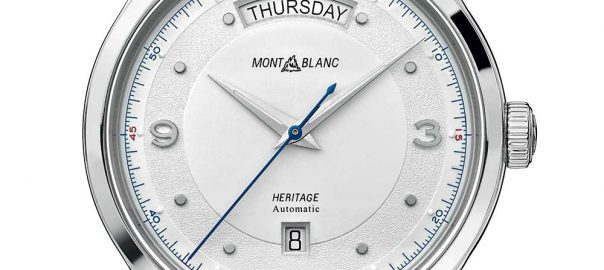 montblanc heritage automatique day date closeup
