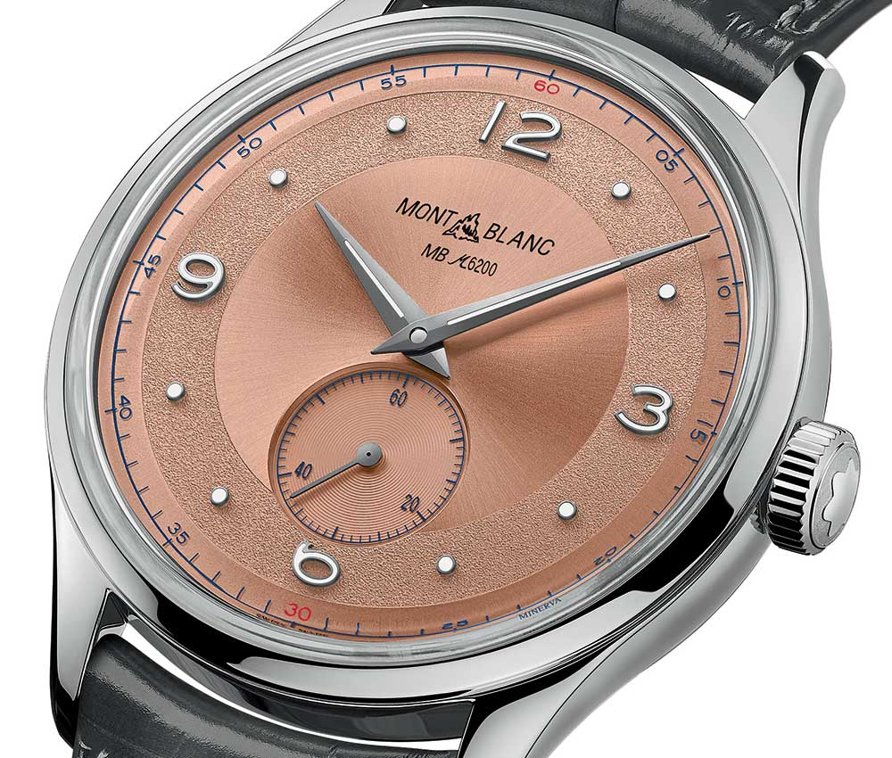 montblanc heritage small seconds limited closeup