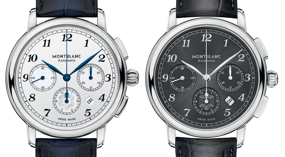 montblanc star legacy automatic chronograph closeup