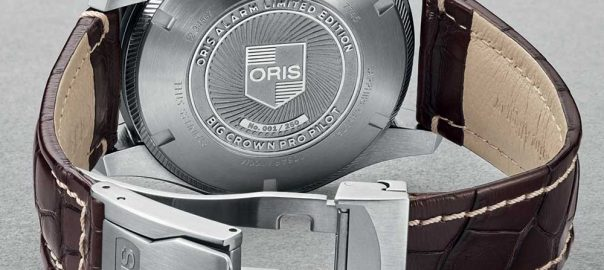 oris big crown pro pilot alarm limited caseback