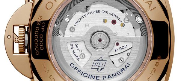 panerai luminor due goldtech caseback
