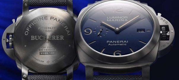 panerai luminor marina bucherer blue with caseback