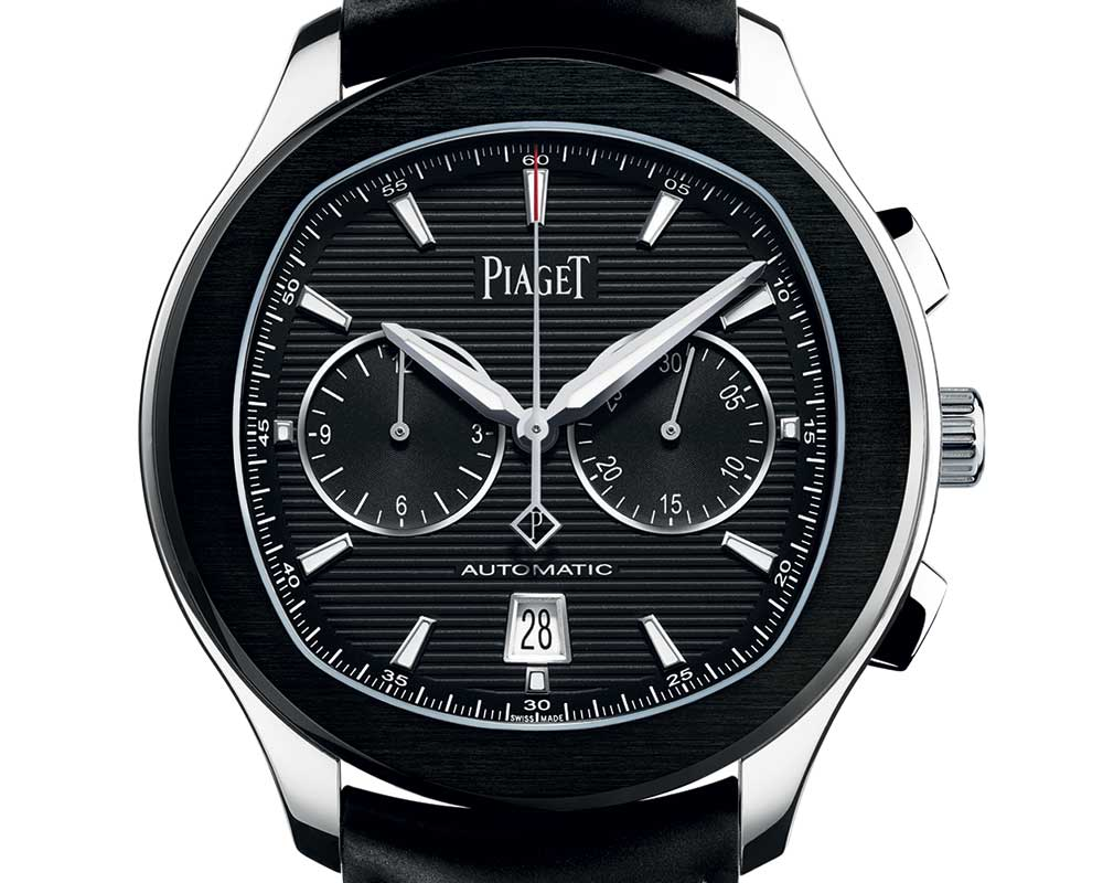 piaget polo s black closeup