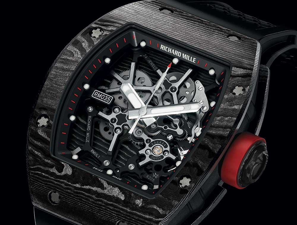 richard mille rm035 ultimate edition closeup
