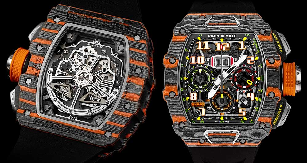 richard mille rm11-03 mc laren with casback