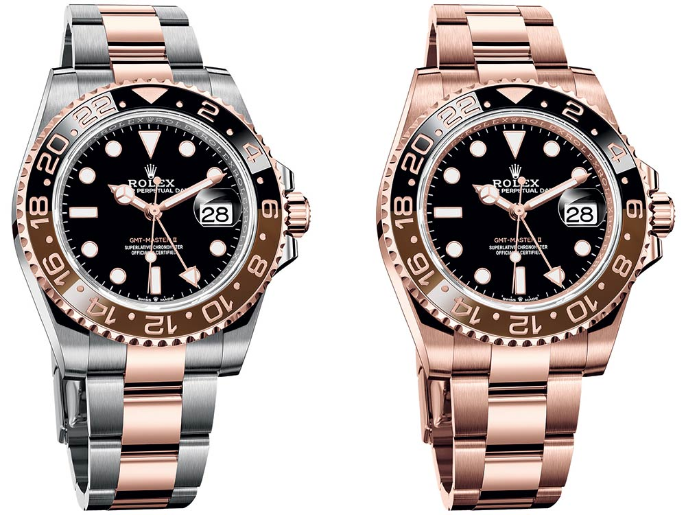 rolex gmt master 2 everose collection