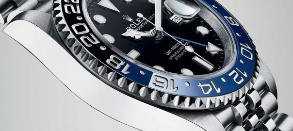 rolex oyster perpetual gmt master 2 closeup left profile
