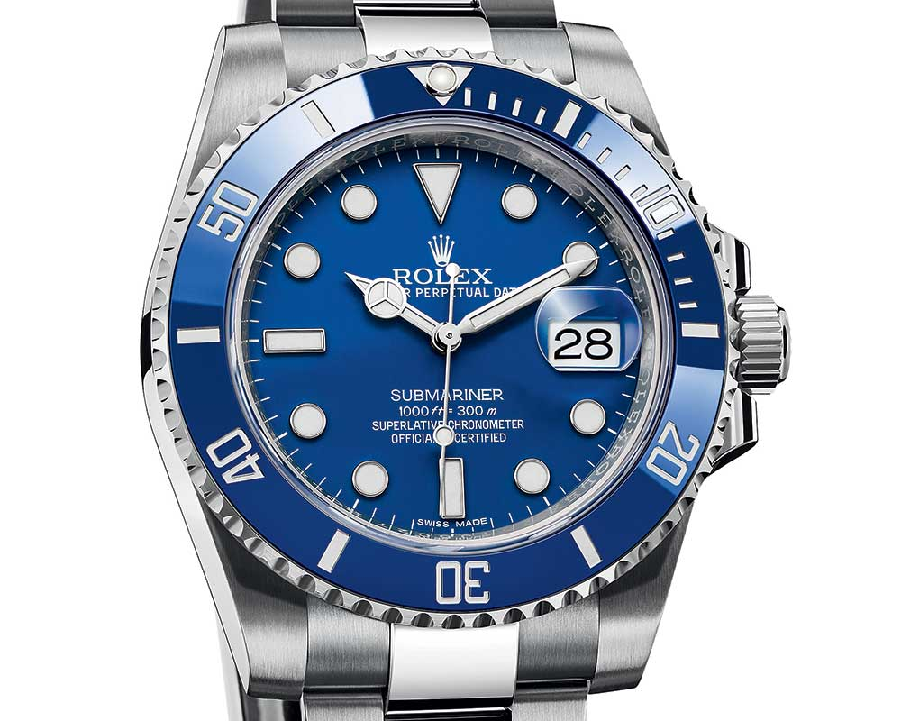 rolex oyster submariner 2018 blue