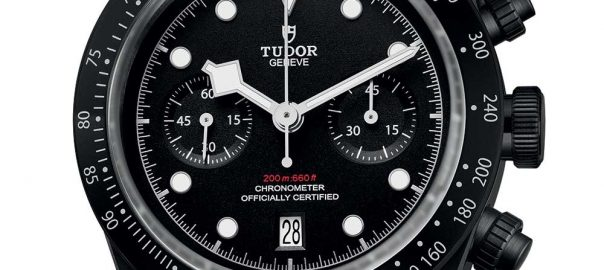 tudor black bay chrono dark closeup