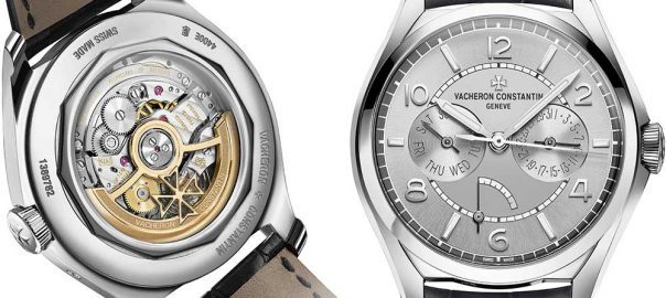 vacheron constantin fiftysix day date closeup with caseback