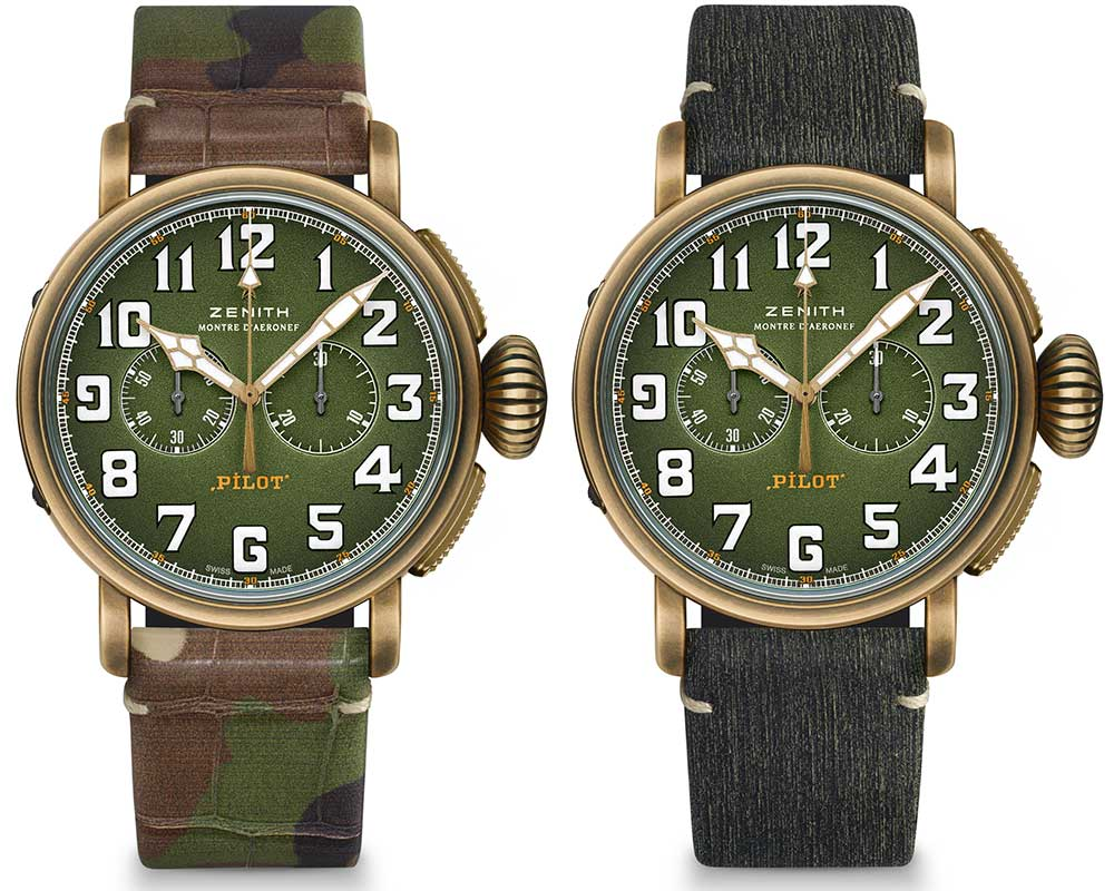 zenith pilot type 20 chronograph adventure both strap