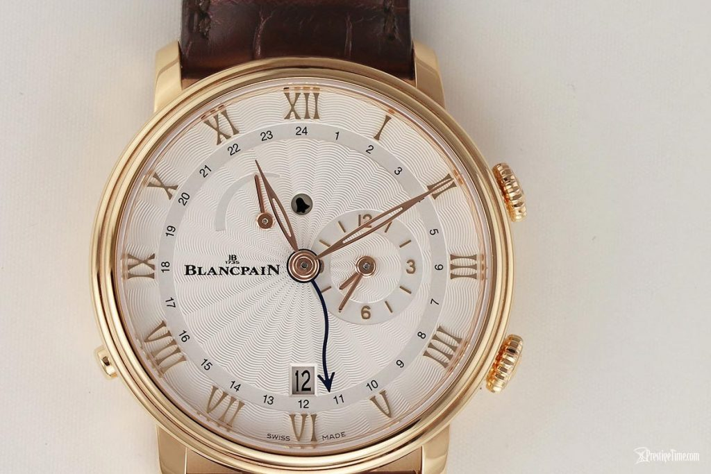 Gold Blancpain Villeret Reveil GMT Watch